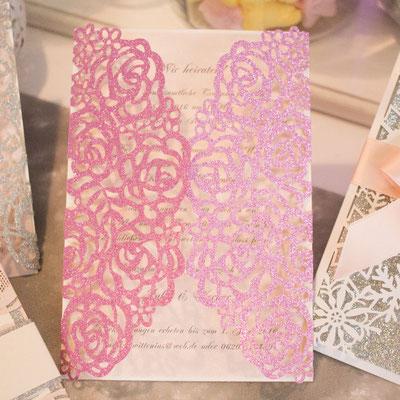 """Glitter Lasercut Karte """"Rosen"""" #GL0140"""