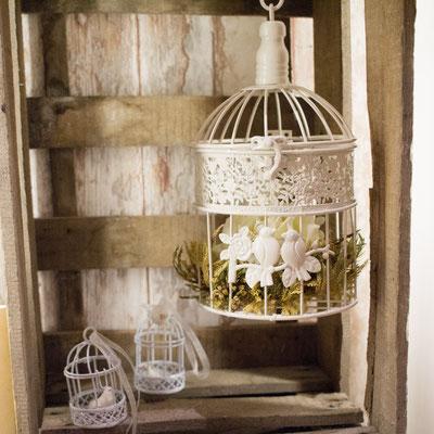 Vogelkäfige sind wunderbar geeignet für Tischdekorationen