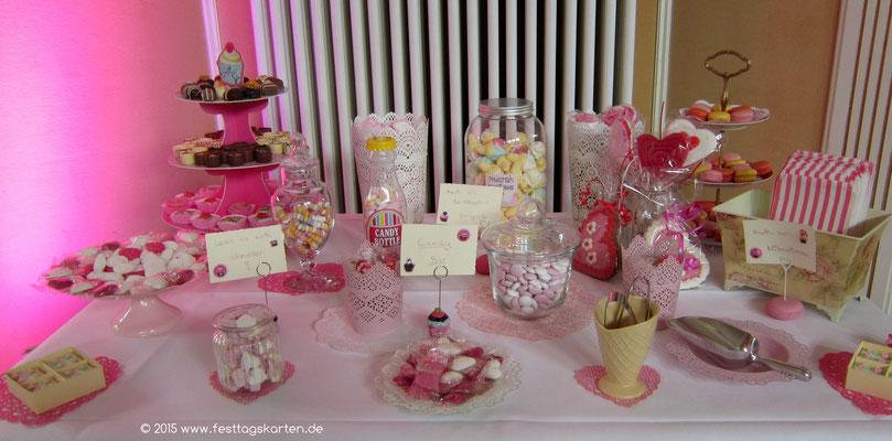 Beliebt und absolut passend: Die Candy-Bar.