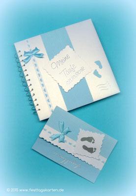 Tauf Set: Einladungskarte und Gästebuch
