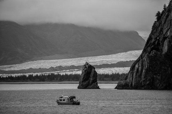Mehrer Gletscher brechen direkt ins Meer bei Seward ab