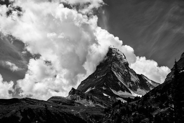 Wolkenfahnen am Matterhorn