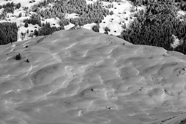 Schneestruktur Montafon - Austria