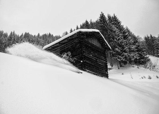 Selten möglich - Skiroute vom Kristberg ins Silbertal
