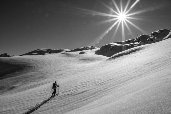 Aufstieg zum Breitfiehler Berg Montafon