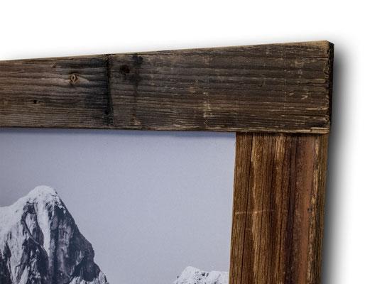 Rahmendetail Echtholzrahmen