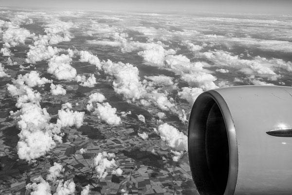Über den Wolken... Flug von Frankfurt nach Anchorage