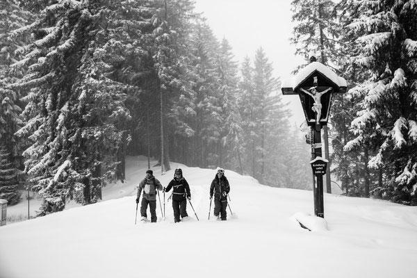 Auf Schneeschuhen am Kristberg 1