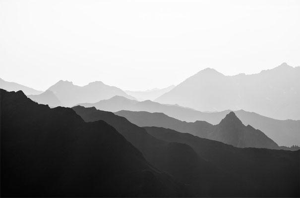 Nightscene Montafon Austria - Blick von der Versailspitze