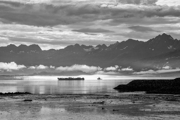 Morgendliche Stimmung in der Bucht von Valdez