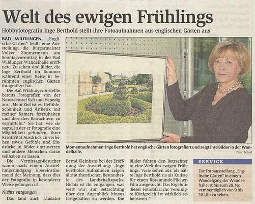 Artikel zur Ausstellung Englische Gärten