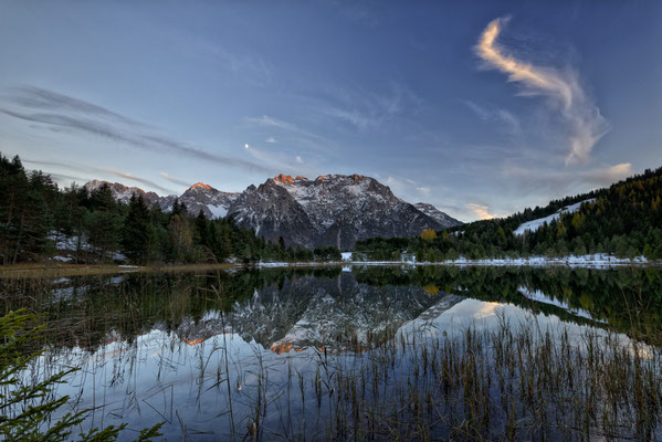 17 Karwendel reflections Alu/Glas 35x45cm