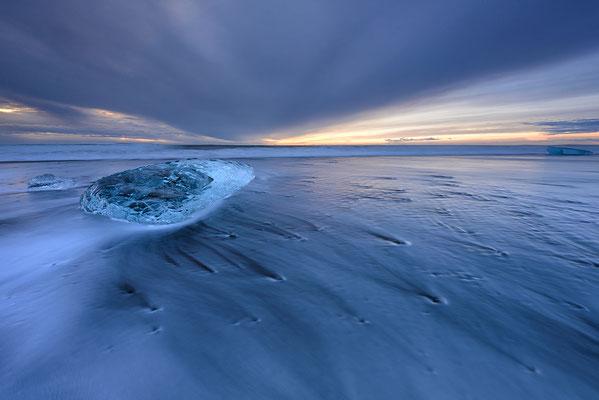 11 Aquamarin Beach II Alu/Glas 58x77cm