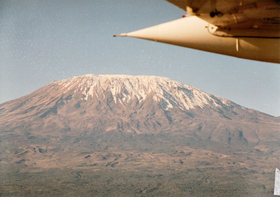 Anflug Massai Mara - der Kilimanjaro