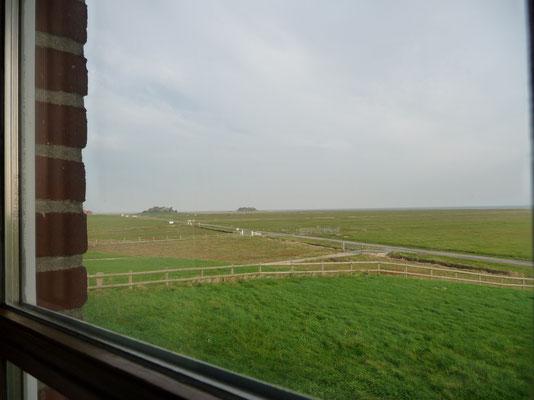 am nächsten Morgen Blick aus dem Fenster
