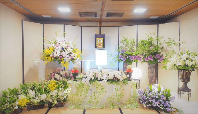 お葬式プラン30 基本生花+花追加