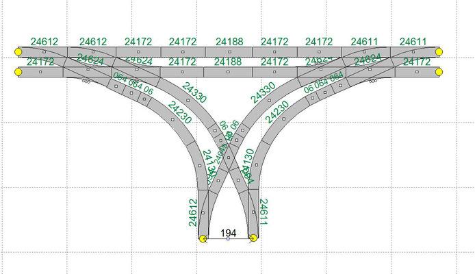 Gleisabstand Bahnhof = 194mm