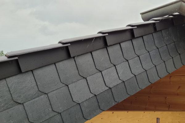 Dacheindeckung - Blockhausbau - Bau