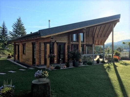 Designhaus - Massivholzhaus - Blockhaus als Einfamilienhaus -Allergikerhaus - Berlin Brandenburg - Berlin - Blockbohlenhaus