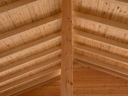 Blockhaus mit Aufdachdämmung - Massivholzhaus - Wohnblockhaus in Bayern - wetterdicht