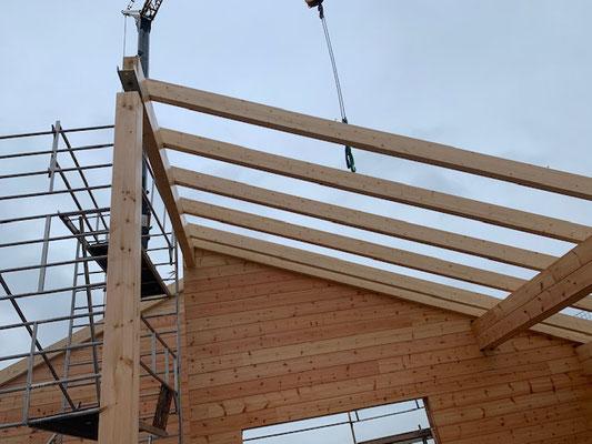 Blockhausbau - Dachkonstruktion - Blockhaus