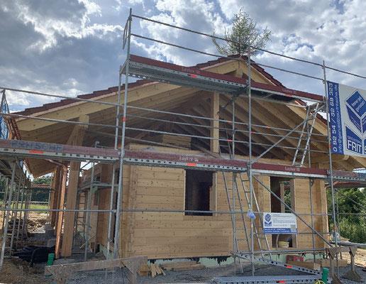 Blockhaus Bungalow bauen- Singlehaus - Holzhäuser in Blockbauweise - Regensburg - Rosenheim - Dachau - Deggendorf - Dinkelsbühl - Eichstätt - Erding - Forchheim - Freising - Kitzingen - Schwabach - Schweinfurt - Straubing - Lindau - Bodensee