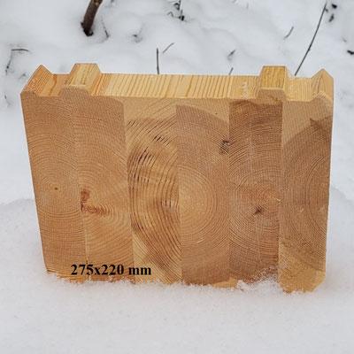 Nordische Kiefer - Blockhausbohlen - Nut Feder Verbindung - Blockhaus - Holzhaus - Leimholz - Lamellenbalken - Schnittholz - Polarkiefer - Polarfichte - Bohle - Sparren
