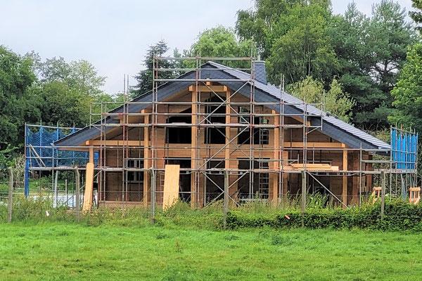 Blockhaus Baustelle - Wohnhaus - Einfamilienhaus - Haus kaufen, planen und bauen