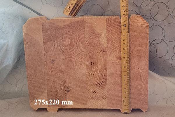 Holz im Blockhausbau - Blockbohle - Steigung - Abdichtung - Nut und Feder - Polarholz - Lappland - Finnland - Baustoff Holz - Holzbau Brandt - Niedersachsen