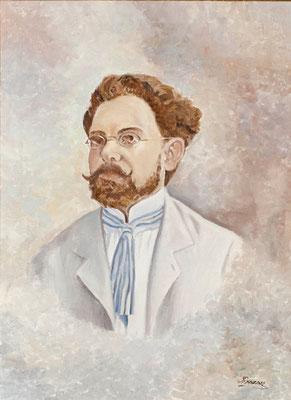 Retrato de Secundino Delgado. Óleo sobre lienzo, 53 x 72,5 cm. Archivo Histórico Provincial de Santa Cruz de Tenerife