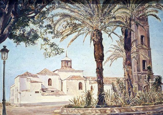 Trasera de La Concepción.  Obra no localizada, rescatada del archivo fotográfico del pintor