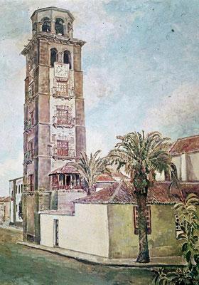 La Concepcion (La Laguna).  Obra no localizada, rescatada del archivo fotográfico del pintor
