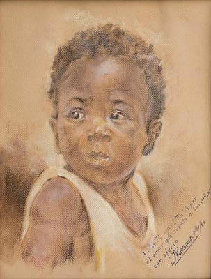 Sin título, 1988.  Pastel sobre papel, 29 x 39 cm. Col. particular