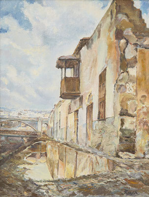 La Vera del Barranco de Santos.  Óleo sobre lienzo, 56 x 73,5 cm. Col. Ignacio Luján García