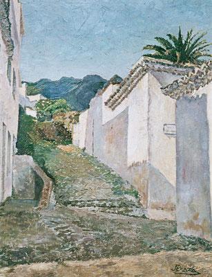 Sin título.  Obra no localizada, rescatada del archivo fotográfico del pintor. Posible entorno de Taganana