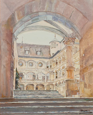 Altes Schloss (Castillo antiguo), 1980.  Óleo sobre lienzo, 36,5 x 45 cm. Col. familia Macía Bonnet