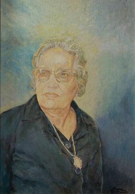 Carmen González García. Stuttgart, 1980. Óleo sobre lienzo, 50 x 72,5 cm. Col. Carmen Peraza González