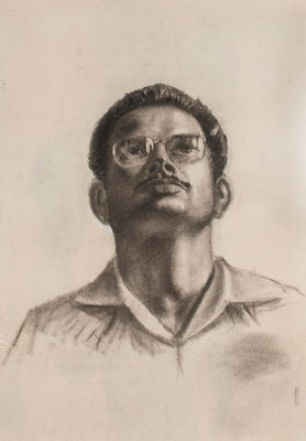 Anónimo. José Peraza. Carboncillo sobre papel, 48,8 x 68,6 cm. Col. familia Macía Bonnet