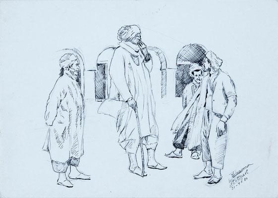 Sin título, 1980.  Técnica mixta sobre papel, 29,5 x 21 cm. Col. familia Macía Bonnet