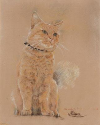 Nunú. Pastel sobre papel, 43,5 x 53,5 cm. Col. familia Macía Bonnet