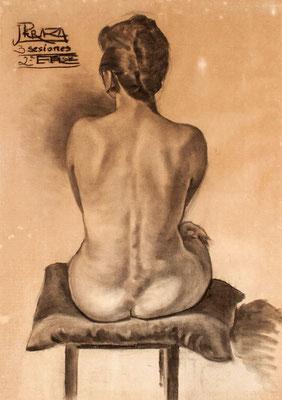 Carboncillo sobre papel. 68 x 95,5 cm. Real Academia Canaria de Bellas Artes