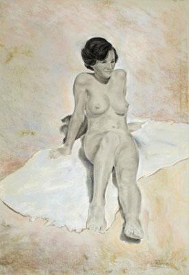Sin título. Pastel sobre papel, 68 x 100 cm. Col. particular