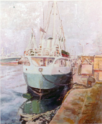 Barco (Marquesina de Santa Cruz).  Obra no localizada, rescatada del archivo fotográfico del pintor