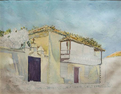 Entorno de Santa Catalina (Tacoronte).  Óleo sobre lienzo, 70 x 57,5 cm. Col. Carmen Peraza González