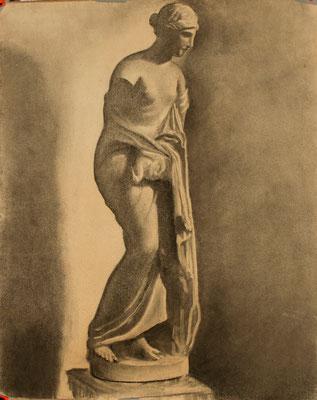Carboncillo sobre papel. 64 x 79,5 cm Col. familia Macía Bonnet