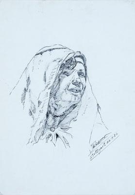 Sin título, 1980.  Técnica mixta sobre papel, 21 x 29,5 cm. Col. familia Macía Bonnet