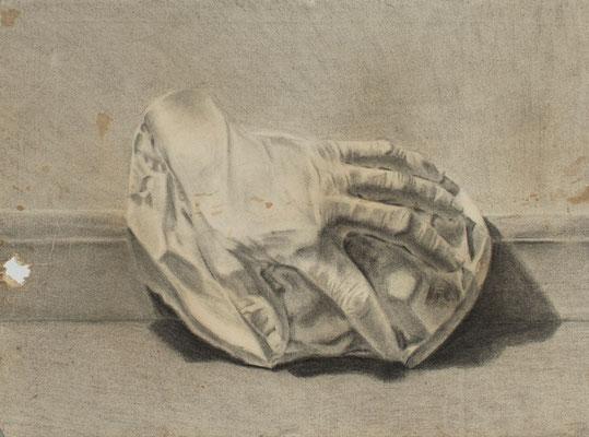 Carboncillo sobre papel. 50 x 35 cm. Col. familia Macía Bonnet