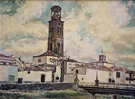 La Concepción.  Obra no localizada, rescatada del archivo fotográfico del pintor