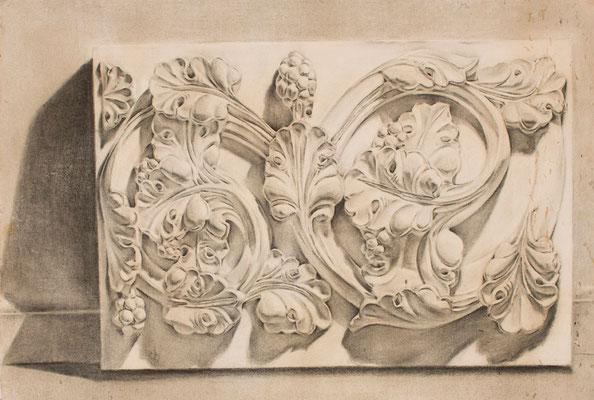 Carboncillo sobre papel. 69,5 x 50 cm. Col. familia Macía Bonnet