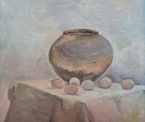 Sin título.  Óleo sobre tabla, 61 x 50,5 cm. Col. Carmen Peraza González